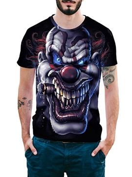 Beddinginn Cartoon Fashion Round Neck Print Loose Men's T-shirt