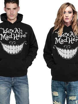 Long Sleeve Big Tooth Pattern 3D Painted Hoodie