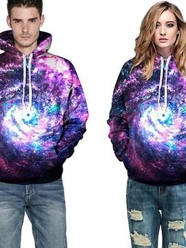 Colorful Long Sleeve Galaxy Pattern 3D Painted Hoodie