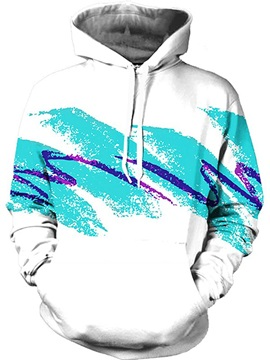 Modern Long Sleeve Novelty Pattern 3D Painted Hoodie