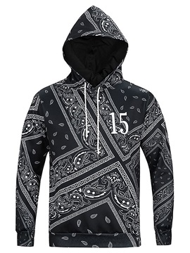 Long Sleeve Novetly Pattern Pocket 3D Painted Hoodie