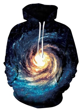 Amazing Long Sleeve Volution Galaxy Pattern 3D Painted Hoodie