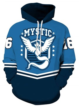 Long Sleeve Creative Eagle Pattern Pullover 3D Painted Hoodie