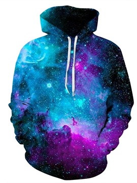 Dream Galaxy Colorful for Men&Women Long Sleeve Spandex 3D Pattern Soft Personalized Hoodie