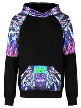 Long Sleeve Mysterious Painting Pattern 3D Painted Hoodie