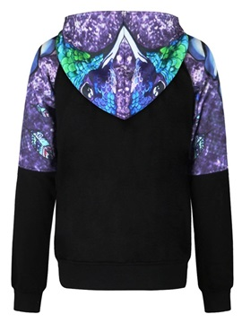 Mysterious Painting Long Sleeve 3D Pattern Men's Hoodie