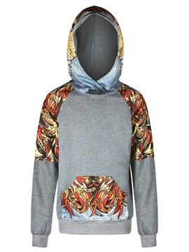 Long Sleeve Indian Style Pattern 3D Painted Hoodie