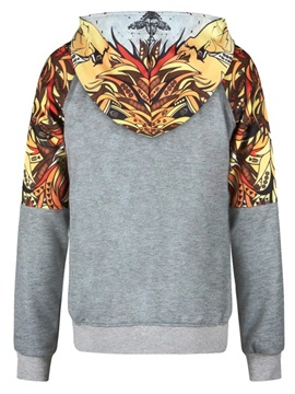 Indian Style Painting Long Sleeve 3D Pattern Hoodie