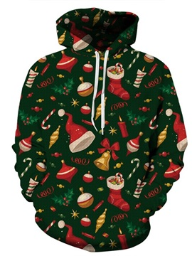 Long Sleeve Christmas Tree Decorations 3D Pattern Hoodie