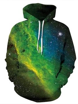 Like Aurora Scenery Long Sleeve 3D Pattern Hoodie