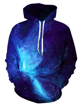 Blue Sky Galaxy Long Sleeve 3D Pattern Hoodie