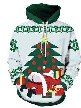 Exposure Butt Santa Christmas Long Sleeve 3D Pattern Hoodie