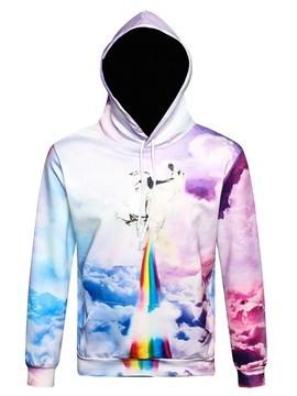 Rainbow Cloud Unicorn Animal Long Sleeve 3D Pattern Hoodie