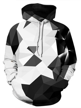 3D Geometric Abstract Graphic Men Sweater Long Sleeve Cool Hoodies