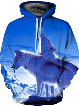 Long Sleeve Iceberg Wolves Pattern 3D Painted Hoodie