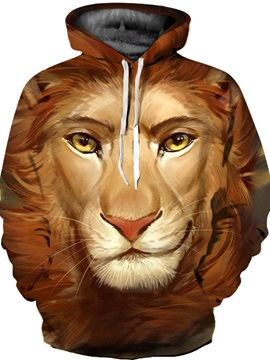 Pullover Kangaroo Pocket Loose Model Fastness 3D Painted Hoodie