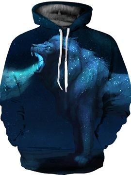 Vivid Color Lightweight Workout Casual Style 3D Painted Hoodie