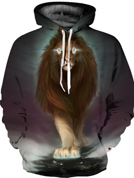 Cool Design Realistic Kangaroo Pocket Lightweight 3D Painted Hoodie