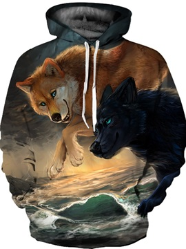 Funny Realistic Design Pullover Loose Model Vibrant Color 3D Painted Hoodie