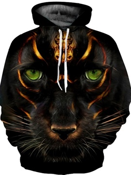 Cool Printed Graphic Loose Model Pullover Kangaroo Pocket 3D Painted Hoodie