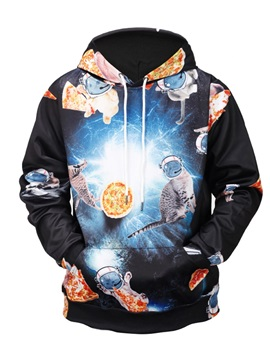 Realistic Casual Style Cool Design Vibrant Color 3D Painted Hoodie