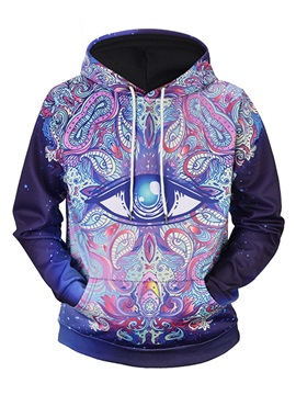 Cool Design Kangaroo Pocket Lightweight Pullover 3D Painted Hoodie