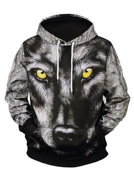 Cool Design Lightweight Loose Model Kangaroo Pocket 3D Painted Hoodie