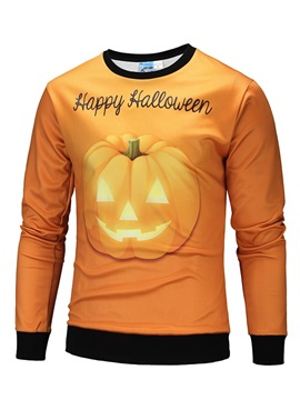 Pullover Halloween Vibrant Color Loose Model 3D Painted Hoodie