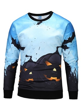 Halloween Bright Color Cool Design Polyester 3D Painted Hoodie