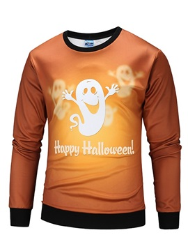 Happy Halloween Unisex Pullover Loose Model Vivid Color 3D Painted Hoodie