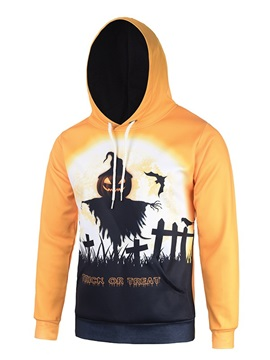 Halloween Vibrant Color Loose Model Polyester 3D Painted Hoodie