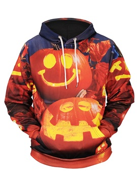 Halloween Holiday Cool Design Loose Model Vivid Color 3D Painted Hoodie