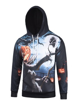 Pullover Halloween Loose Model Fall Spring 3D Painted Hoodie