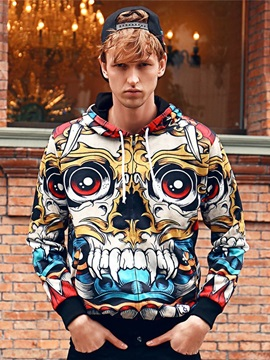 Halloween Vivid Color Lightweight Vibrant Color 3D Painted Hoodie