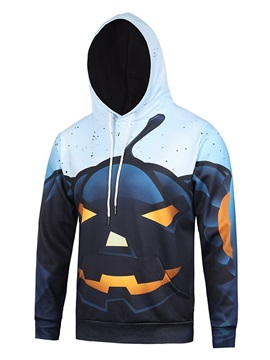 Polyester Halloween Pullover Lightweight Vibrant Color 3D Painted Hoodie
