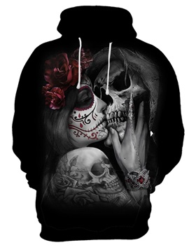 Skull Cool Design Lightweight Realistic 3D Painted Hoodie