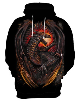 Pullover Unisex Lightweight Vibrant Color Casual Style 3D Painted Hoodie
