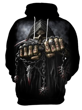 Halloween Long Sleeve Vivid Color Realistic Pullover 3D Painted Hoodie