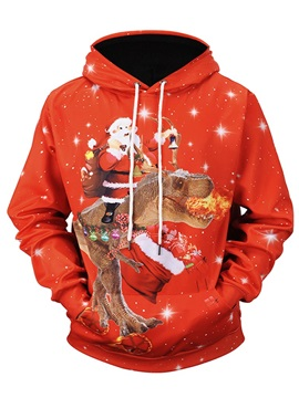 Loose Model Fastness Cool Design Kangaroo Pocket 3D Painted Hoodie