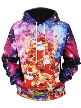 Lightweight Fastness Vibrant Color Pullover Casual Style 3D Painted Hoodie