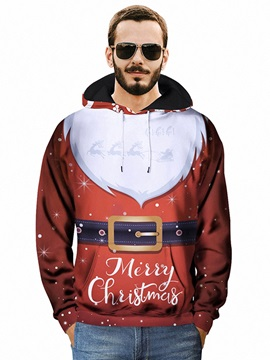 Pullover Loose Model Kangaroo Pocket Vivid Color 3D Painted Hoodie