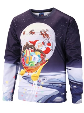 Cool Design Loose Model Printed Realistic Casual Style 3D Painted Hoodie