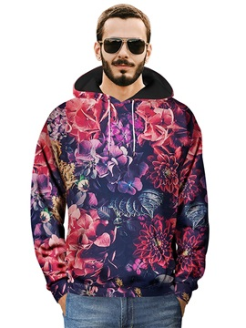Loose Model Casual Style Realistic Pullover 3D Painted Hoodie