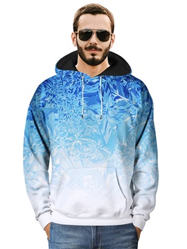 Unisex Pullover Kangaroo Pocket Loose Model Lightweight 3D Painted Hoodie