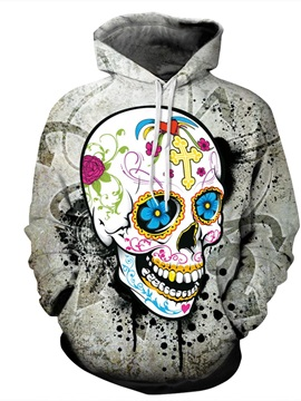 Lightweight Loose Model Long Sleeve Pullover 3D Painted Hoodie