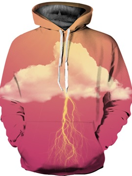 Funny Design Kangaroo Pocket Lightweight Vivid Color 3D Painted Hoodie