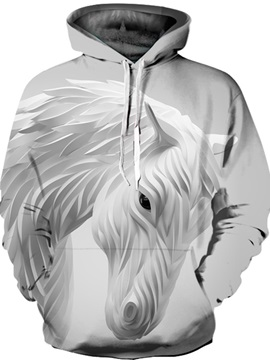 Cool Design Lightweight Pullover Clear Print 3D Painted Hoodie