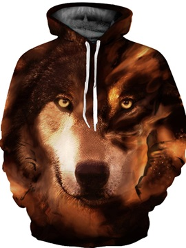 Vibrant Color Loose Model Casual Style Fastness 3D Painted Hoodie