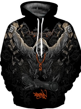 Cool Design Lightweight Pullover Casual Style 3D Painted Hoodie