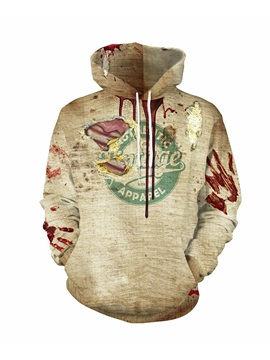 Halloween Theme Loose Model Polyester 3D Painted Hoodie